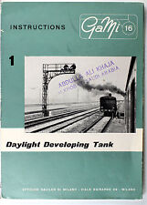 Original GaMi 16 Manual for Daylight Developing Tank, 6 pages, printed 1956
