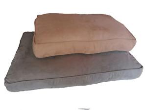 Dog Bed Puppy Pet Washable Zipped Medium & Large Soft  Mattress Cushion Suede