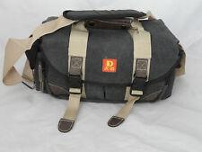 Canvas Shoulder Camera Bag Case Satchel Messenger Canon Nikon Sony DSLR SLR UK