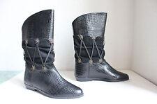 Vintage Elegante Winter Boots Stiefel Echtleder Schwarz Eu:39-39,5-Ungetragen