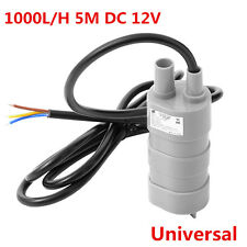 DC 12V Solar Brushless Submersible Water Pump 5M 1000L/H Fish Pond JT550 TE485
