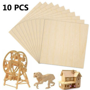 10 X Wooden Plate Model for Basswood Wood Sheet House Ship Aircraft 100x100x2mm