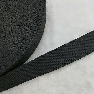 15/20/25/30/38mm Black Width Length Nylon Webbing Strapping Pick U