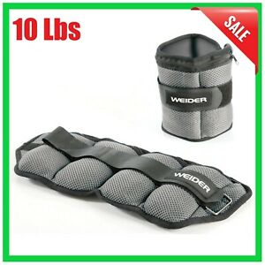 Ankle Pair Weights 5 Lbs - Leg Ankle Exercise Running Walking Home Workout Gym