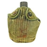 Vintage WWII 1945 US Army S M CO. Canteen with Cover Antique