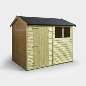 Wooden Garden Shed 8x6, T&G Roof and Floor.