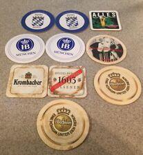 10 German Bier Beer Coasters König Heidelberg Krombacher HB