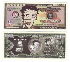 "1 MILLION DOLLARS ETATS-UNIS ""BETTY BOOP"""
