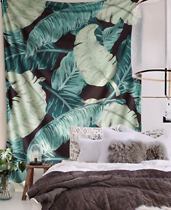 "FLBER Banana Leaf Wall Tapestry Home Decor,60""x 80"",Twin Size"