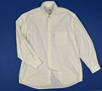 Levis shirts camicia uomo usato XXL 46 18 manica lunga bianca vintage T5937