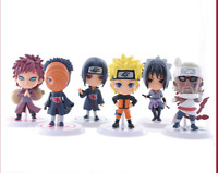 6PCS/Set Anime Naruto Itachi Gaara PVC Action Figure Collectible Toy gifts 7cm