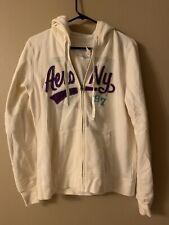 Women's Aeropostale Eighty-seven Full Zip Hoodie Jacket Size XL NWT Cream Color