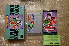 "Super Baseball 2020 ""Very Good Condition"" Nintendo Super Famicom Japan"