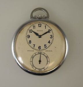Rare ROLEX PRINCE IMPERIAL Observatory quality Pocket watch c1930