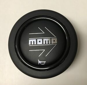 MOMO Steering Wheel Horn Button Black Large