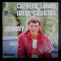 "CD EP Johnny Hallyday ""Cheveux Long Idées Courtes"" (Avec Code Barre) Comme Neuf"