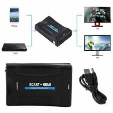 1080P SCART To HDMI Audio Video Converter USB Cable Adapter for DVD SKy Box GL