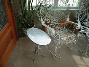 ALUMINUM  TABLE ~ Modern Furniture Style, oval