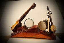 Hand Carved Pine Miniature National Azerbaijan Musical Instruments Tar Kamancha