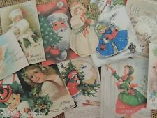 Lot of 12 CHARMING VINTAGE CHRISTMAS DESIGN DIE CUTS 4 CARDS | FREE SHIP | X21