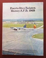 Puerto Rico Salutes Ramey Air Force Base, Rare 1969 Illustrated Guide Book