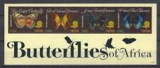 Tanzanie 2011 papillons n° 3781 à 3784 feuillet neuf ** 1er choix
