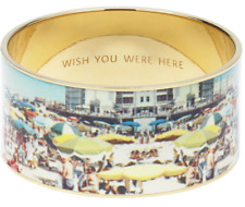 Kate Spade Wish You Were Here Postcard Bangle NWT RARE Retro Witty Cheeky Chic!