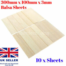 10x Balsa Wooden Plate Wood Sheet Model Train RC House Ship Aircraft 300x100x3mm