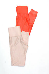 Carbon 38 Womens Athletic Leggings Orange Light Pink Size Small Lot 2