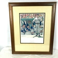 Norman Rockwell Bottom of the Ninth 10x13 Print in Wood Frame 18x22 - 1948