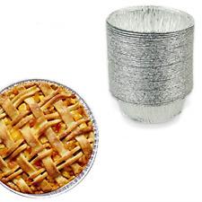 5 Inch Small Round Pie Tart Tin Foil Pans Freezer & Oven Safe Disposable Alum.