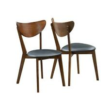 Malone Black/Dark Walnut Side Chair (Set of 2) by Coaster
