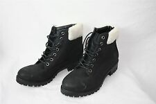 NWD Womens Black Synthetic Ankle Boots Shoes New Look RRP 27.99 Lace Up Trendy