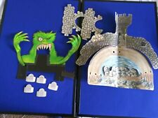 Tyco haunted highway Castle and Green Monster gravestones cardboard cutouts lot