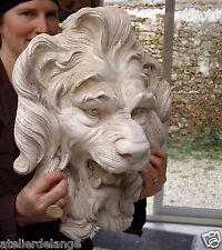 Fontaine jardin grande tête de lion béton extérieur3180