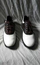 Men's Foot Joy Golf Shoes Brown White Soft Spikes Size 9M Style 45587