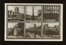 Yorkshire Yorks RIPON M/view RP PPC Used 1930