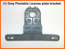 (1) GREY FLEXIBLE Trailer Truck License Plate Bracket POLY FREE SHIPPING!!