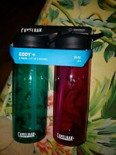 CamelBak Eddy Water Bottle 20 oz - 2 Pack deep magenta/spectra blue