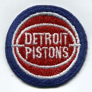 "1979-96 DETROIT PISTONS NBA BASKETBALL VINTAGE 2"" ROUND TEAM LOGO PATCH"
