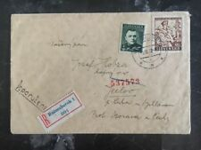 1940 Ruzomberok Slovakia Censored Registered Cover to Germany