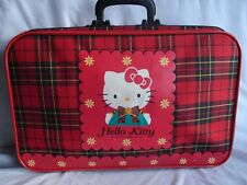 Hello Kitty Luggage Suitcase SANRIO RARE 1989 Vintage RARE HTF Plaid Pattern