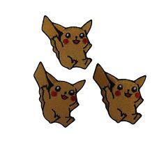 Nintendo's Pokemon Series Pikachu Figure Embroidered Patch Set of 3