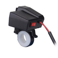 Dual USB Motorcycle ATV GPS Phone Cigarette Lighter Socket Charger LED 12V - 24V