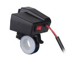 Doble Usb Moto Atv GPS teléfono Encendedor de Cigarrillos Cargador LED 12 V - 24 V