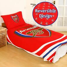 ARSENAL FC impulsion simple housse de couette et taie d'oreiller Set polycoton