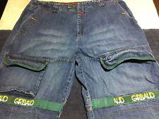 Marithe Francois Girbaud 42M Green Shuttle Tape Cargo Hip Hop Loose Baggy Jeans