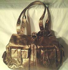 Sabina New York Handbag Satchel Purse Gold Leather Perfect Condition