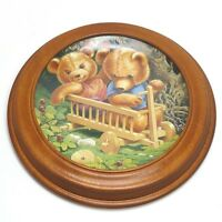 Teddy und seine Freunde Sammelteller  mit Holzrahmen (1)
