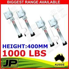 X4 CORNER LEGS DROP DOWN STABILIZERS 400MM HANDLE 1000LBS CARAVAN CAMPER TRAILER